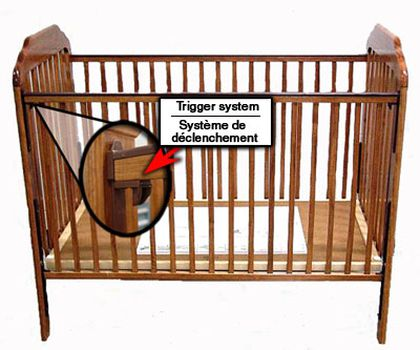 Sales of drop side cribs now banned in canada canada for Child craft crib recall