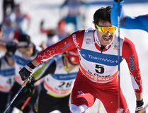 Canada's Alex Harvey competes in a World Cup cross-country skiinig mass start race in La Cusaz, France on Dec. 17, 2016. Cross Country Canada/ www.nordicfocus.com.