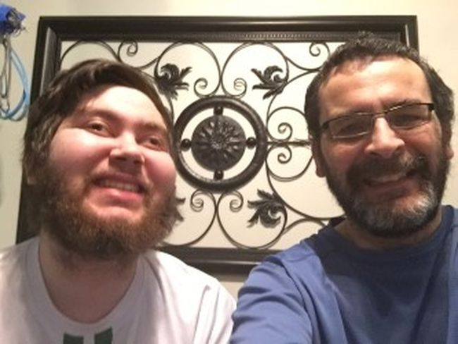 Justin Masotti (left) is pictured with his dad, Mike (SUPPLIED PHOTO)