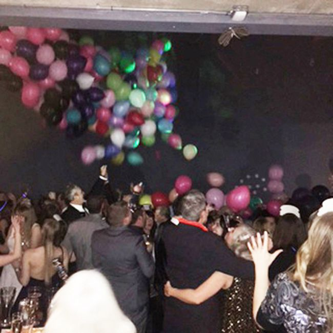 At midnight, there was a champagne toast in a keepsake Bruce 150 glass, and a balloon drop approximately 250 people celebrated 207 and kicked off bruce County's 150th anniversary celebrations as a gala at the Bruce County Museum & Cultural Centre in Southampton. Anne-Marie Collins
