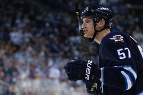There is still no timetable for Tyler Myers' return to the Jets lineup. (THE CANADIAN PRESS/John Woods file photo)