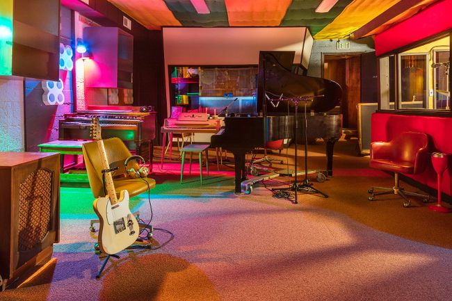 This Sept. 20, 2016 photo released by the Alabama Tourism Department, shows the interior of the renovated Muscle Shoals Sound Studio in Sheffield, Ala. Once used by recording artists including the Rolling Stones and Bob Dylan, the studio is reopening for tours in January and has been named Alabama's top tourist attraction for 2017. (Art Meripol/Alabama Tourism Department via AP)
