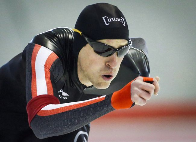 Denny Morrison is working on regaining his peak speedskating form in time for the 2018 Winter Games in Pyeongchang, South Korea. (Jeff McIntosh/The Canadian Press)