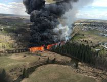 The trestle bridge fire was one of the top stories in Mayerthorpe in 2016 and made national news.