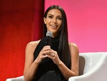 Kim Kardashian-West speaks at The Girls' Lounge dinner, giving visibility to women at Advertising Week 2016, at Pier 60 on September 27, 2016 in New York City. (Slaven Vlasic/Getty Images for The Girls' Lounge)