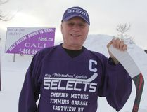 Ray Auclair, a former Timmins businessman and survivor of childhood sexual abuse, is hosting a charity hockey game to raise funds for a new awareness billboard in Cochrane. The game will be held at the Tim Horton Event Centre in Cochrane on Jan. 28 and feature Old Timers hockey teams from Timmins and Cochrane pitted against one another for the cause.