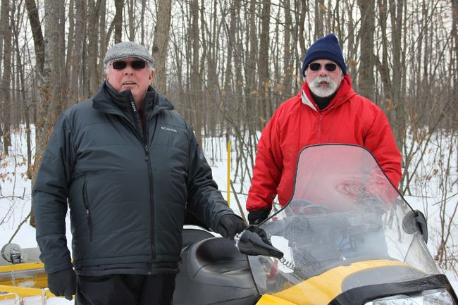 President of the Friends of the Summerstown Trails Paul Couture with trail groomer Gord Knox on Sunday January 8, 2017 in Williamstown, Ont. Lois Ann Baker/Cornwall Standard-Freeholder/Postmedia Network