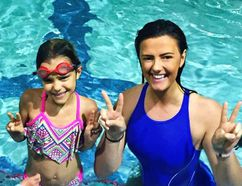 Swimmers and instructors take part in SwimAbility Sudbury, a not-for-profit program to teach swimming to children with disabilities, at Laurentian University. The student-driven program starts a new session on Jan. 15. (Photo supplied)