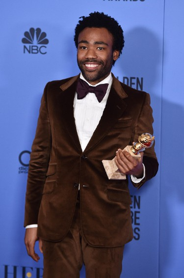 Actor Donald Glover, winner of Best Actor in a Television Series - Musical or Comedy for 'Atlanta,' poses in the press room during the 74th Annual Golden Globe Awards at The Beverly Hilton Hotel on January 8, 2017 in Beverly Hills, California.  (Photo by Alberto E. Rodriguez/Getty Images)