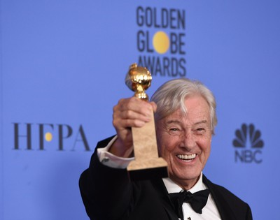 Director Paul Verhoeven, winner of Best Foreign Language Film for 'Elle,' poses in the press room during the 74th Annual Golden Globe Awards at The Beverly Hilton Hotel on January 8, 2017 in Beverly Hills, California. / AFP PHOTO / Robyn BECKROBYN BECK/AFP/Getty Images