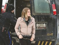 File photo Aleisha Block is seen here being brought to Timmins court in January 2015. The Kirkland Lake woman who was convicted of manslaughter for the stabbing death of her boyfriend, Christopher Deighton, in August 2012, is on the verge of being released.