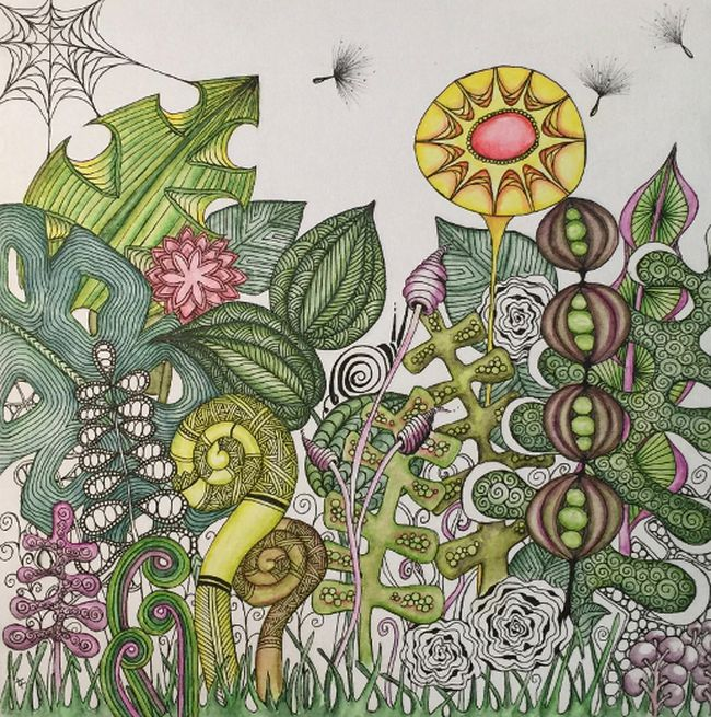 An example of Zentangle art. (Photo submitted)
