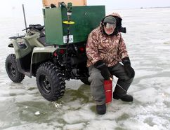 Ice fishers are back on Mitchell's Bay.
