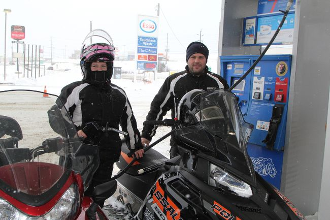 Filling up at the pumps just became noticeably more expensive as Jason and Krystle Boetto found out on Monday. The two took their snowmobiles to the Esso station on Algonquin Boulevard in Timmins that day and noted that the higher price, while not dissuading them from snowmobiling, will make a noticeable dent in their pocketbooks. The higher costs are attributed to the implementation of the provincial government's cap-and-trade program, which increased gas prices by 4.3 cents per litre and diesel by 6.1 cents per litre.