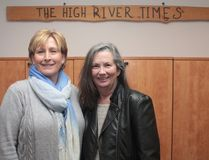 KEVIN RUSHWORTH HIGH RIVER TIMES/POSTMEDIA NETWORK. Enid Fraser, long-time media sales consultant for the Times, is retiring and Colleen McCrea, who has been doing the sales position for the Cochrane Times, will be taking over her position at the paper.