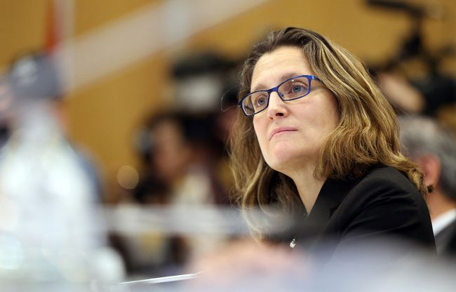 Chrystia Freeland the Minister of International Trade from Canada.(AFP/Getty Images)
