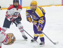 Emily Woodhouse, of St. Marys, was named Laurier's Female Athlete of the Week after leading the Golden Hawks' women's hockey team to their first regulation win in nearly a year. (Kha Vo photo)