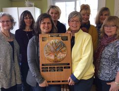Nominations are being sought for the AppreSHEation award. Committee members from left to right are Phyl McCrum, Ingame Homes, Lorene Bruschetto, public health, Sue Barg, Family Violence Counselling Program Jayne Brewster, community member, Karen Moritz, Domestic Abuse Services Oxford, Toni Doody-Syrett, Ingamo Homes, Mary Anne daCosta, Ingamo Homes, and Irma Slager, Canadian Mental Health Association. (HEATHER RIVERS, Sentinel-Review)