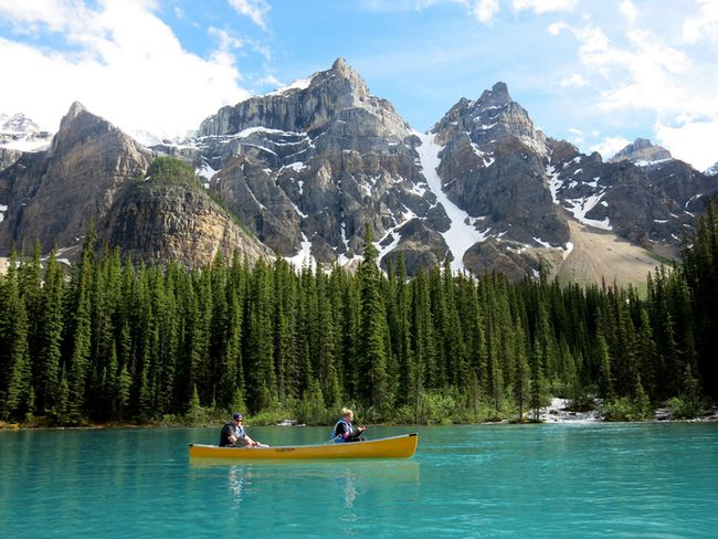Moraine Lake, pictured here, is a prime spot in Banff National Park. JIM BYERS PHOTO