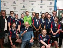 The Leduc U14 girls soccer team earned a hard fought 2-1 win over Cumberland/Oxford in their respective final to take home the gold medal during the FC Polar Cup in Edmonton in late December. Submitted