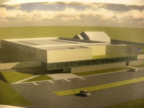 Submitted photo Quinte West's new $23 million consolidated public works facility under construction in the North Murray Industrial Park is targeted for the end of February.