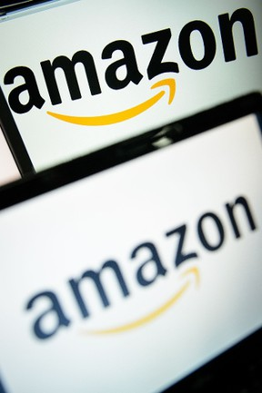 This file photo taken on December 11, 2014 shows the logo of the online retailer Amazon displayed on computer screens in London. (LEON NEAL/AFP/Getty Images)