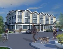 Artist's illustration of proposed 45-bedroom women's shelter. Image provided by Waypoints.