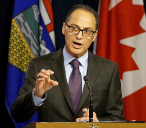 Alberta finance minister Joe Ceci (above) and Stony Plain MLA Erin Babcock met with community stakeholders on Jan. 10 to chat about the upcoming budget. - Postmedia Network