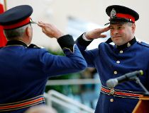 Former hockey pro fits right in with new crop of Edmonton police recruits