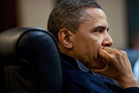 In this handout image provided by The White House, President Barack Obama listens during one in a series of meetings discussing the mission against Osama bin Laden, in the Situation Room of the White House, May 1, 2011 in Washington, D.C. (Pete Souza/The White House via Getty Images)