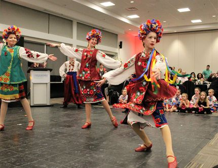 Members of the of Fort McMurray's Avrora Ukrainian Dance Club perform during Malanka celebrations at Shell Place on Saturday, January 14, 2017. Vincent McDermott/Fort McMurray Today/Postmedia Network