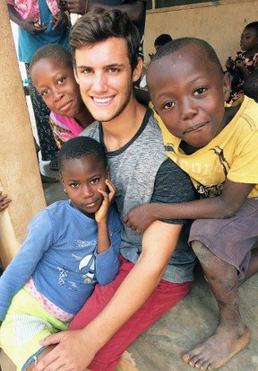 Daryn Van Herk spent almost two months in the West African country of Ghana volunteering in construction projects late last year. SUBMITTED