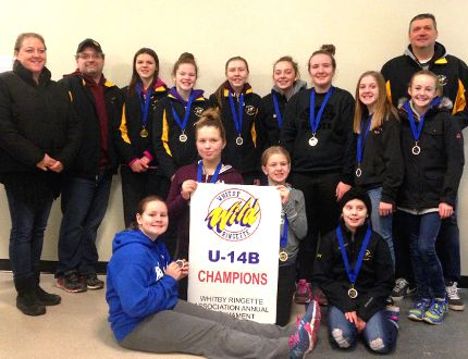 The U14 Stingers pose with their medals after winning gold in Whitby Jan. 8. SUBMITTED