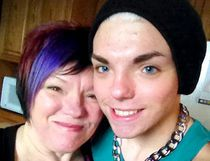 Stef Sanjati is pictured here in this undated photo with his mother Catherine Peloza, prior to transgender transitioning. (Handout/Chatham Daily News)
