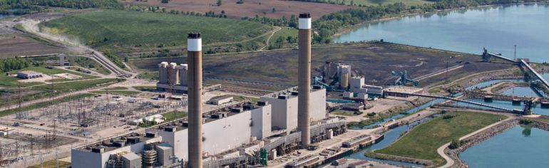 The now-closed, coal-fired power generation plant at Nanticoke. The Ontario government closed the last coal-fired energy generating plant in 2014.