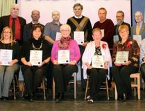 Huron-Bruce MPP Lisa Thompson celebrated the Remarkable Citizens of 2017 during the 5th annual New Year's Levee in Teeswater last week. Recipients included - Back Row (left to right):Ed Luyten (Teeswater), Blake Evans (Tiverton), Lynn Evans (Kincardine), Mike Wagner (Walkerton), Bill Carroll (Walkerton), Tom Joyes (Goderich), Bill Joyes (Sebringville), Ted Cobean (Walkerton), Dave Bourne (Wingham), MPP Lisa Thompson. Front: Lucy Luyten (Teeswater), Christine Brandt (Walkerton), Kathy Nichol (Brussels), Bonnie Sitter (Exeter), Willa Schoffer (Kincardine), Vickie Cahill (Kincardine), Jacquie Bishop (Bluevale), Mary Lou Bourne (Wingham). Absent: Aylmer Joyes and Verna Joyes (Sebringville). (Shared)