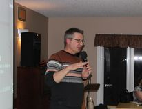 Architect George Berry, of Berry Architecture and Associates, presented the layout of the new Parkland Lodge to residents at an open house on Jan. 6. (Gord Fortin)