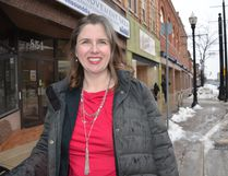 Cameron is the Owen Sound Downtown Improvement Area downtown rehabilitation project co-ordinator. A resident survey to gather people's thoughts about downtown Owen Sound was launched Monday on the DIA website. (Scott Dunn, The Sun Times, Owen Sound)