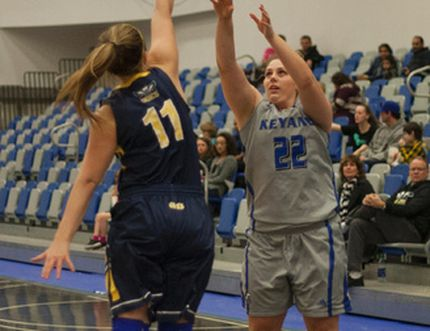 Danielle MacLellan and the Keyano Huskies women's basketball team gave the NAIT Ooks a challenge in the first road trip of 2017, but fell to 7-6 after a pair of losses. Robert Murray/Fort McMurray Today/Postmedia Network