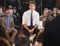 Prime Minister Justin Trudeau listens to a question during a town hall in Sherbrooke, Que. on Tuesday, January 17, 2017. THE CANADIAN PRESS/Ryan Remiorz