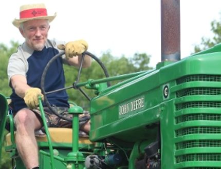 Eden CEO James Friesen has moved on after 36 years of working for mental health. Pictured here taking part in Tractor Trek 2016, one of Eden's major fundraisers, Friesen said he'll miss the community interaction. (GREG VANDERMEULEN/Winkler Times)