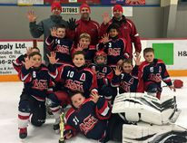 The Char-Lan Novice Rep B Rebels won their fifth tournament of the season, claiming gold in Cobden. In front is Parker Sauve. Kneeling, from left, are Hayden Bennett, Liam Gray, Brady Bell, Devin Anderson and Camden McCuaig. Third row are Matt McDonell (partially hidden), Adam Mailhot, Will Millar and Preston Hill. At back are coaches Richard Mailhot, Matt Gray and Tim McCuaig. Missing is coach Matt Verdone and Carter Verdone. Handout/Cornwall Standard-Freeholder