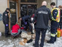 Vancouver Fire Department Medical Unit responds to an unresponsive man after injection a drug in the Downtown Eastside in Vancouver, BC, December, 9, 2016. The unit had two cases of a fentanyl overdoses. (Richard Lam/Postmedia Network)