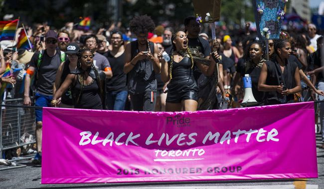 Black Lives Matter protesters shut down last year's Pride parade. POSTMEDIA