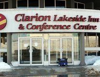 Power is restored but the Clarion Lakeside Inn and Conference Centre remains closed pending completion of the cleanup and installation of new equipment following a burst pipe that caused water damage to the building's electrical system over the weekend. Reg Clayton/Miner and News