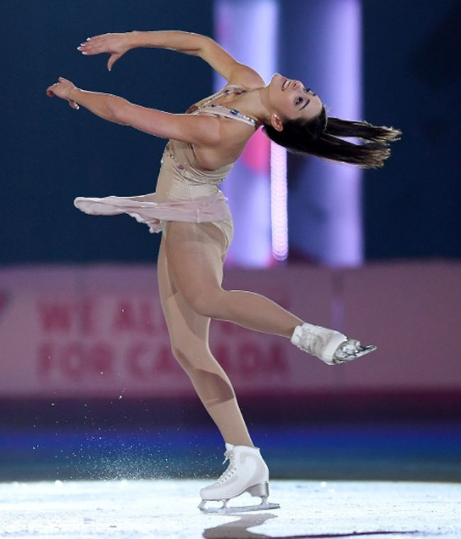 Women's champion Kaetlyn Osmond performs in the Gala Exhibition to wrap up the Canadian Tire national skating championships in Ottawa yesterday. (The Canadian Press)