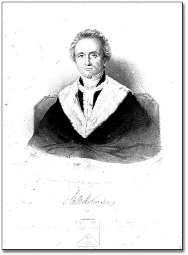 John B. Robinson, the lawyer who opined on whether to pardon American immigrant Jacob Overholser convicted of treason in Ontario in 1814.