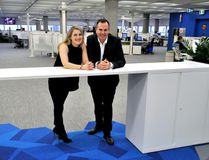Voices.com co-owners Stephanie Ciccarelli and David Ciccarelli inside the company's new headquarters at 100 Dundas Street in London Ont. January 19, 2017. CHRIS MONTANINI\LONDONER\POSTMEDIA NETWORK
