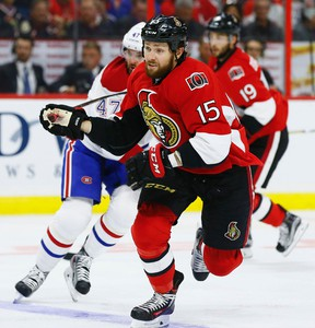 Centre agreed to a four-year, $13-million US contract extension with the Senators on Monday. (Errol McGihon/Ottawa Sun)