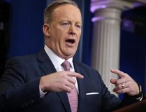 White House press Secretary Sean Spicer speaks during the daily White House briefing in Washington on Monday, Jan. 23, 2017. (AP Photo/Evan Vucci)